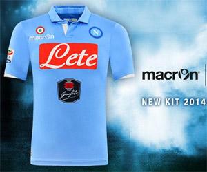 Camisas do Napoli 2014-2015 Macron