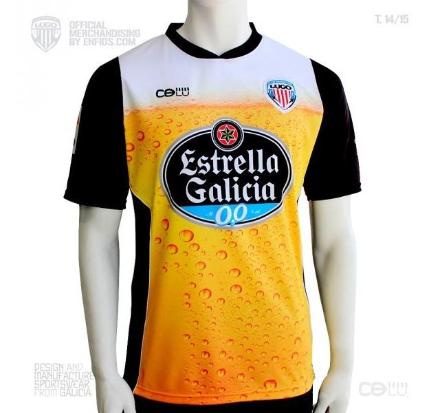 Deportivo Lugo inova e lança camisa de cerveja