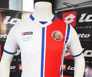 Camisa da Costa Rica comemorativa à Copa do Mundo Lotto capa
