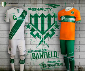 Camisas do Banfield 2014-2015 Penalty capa