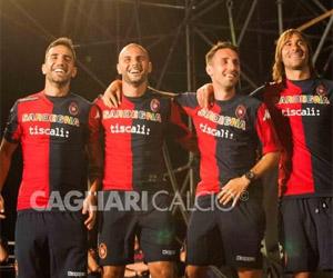 Camisas do Cagliari 2014-2015 Kappa capa