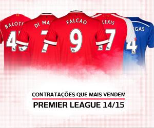 Contratações que mais vendem camisas na Premier League 2014-2015