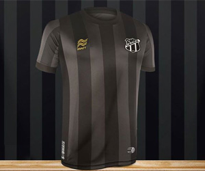 Terceira camisa do Ceará 2014 Preta Centenário Penalty capa