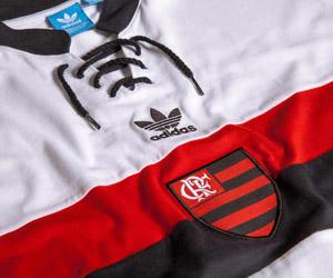 Camisa retrô do Flamengo 2014 Branca Adidas Originals capa