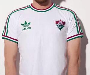 Camisa retrô do Fluminense 2014 Branca Adidas Originals capa