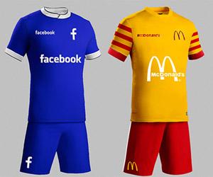 Como seriam os uniformes de futebol das maiores marcas do mundo capa