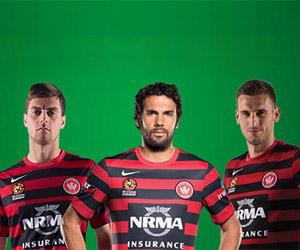 Camisas do Western Sydney Wanderers 2014-2015 Nike