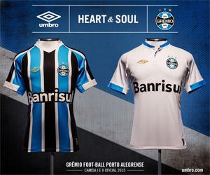 Camisas do Grêmio 2015 Umbro capa
