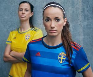 Camisas femininas da Suécia 2015 Adidas capa