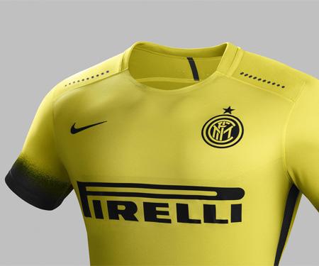 Terceira camisa da Inter de Milão 2015-2016 Nike Amarela capa