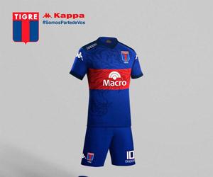 Camisas do Tigre da Argentina 2015 Kappa capa
