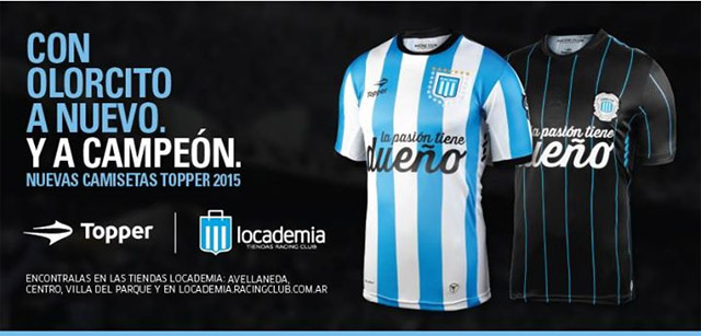 Camisas do Racing Club 2015 Topper a