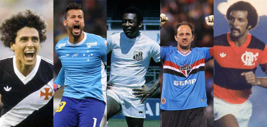 Jogadores que mais atuaram com as camisas dos times brasileiros
