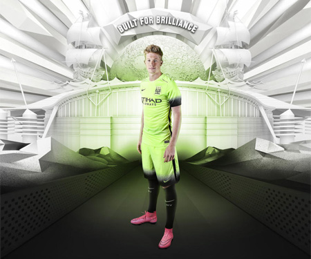 Terceira camisa do Manchester City 2015-2016 Nike Verde capa