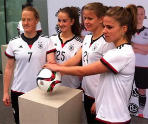 Camisa feminina da Alemanha 2015 Adidas 2