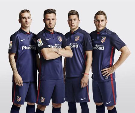 Camisas do Atlético de Madrid 2015-2016 Reserva capa