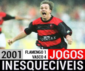 Jogos inesquecíveis Flamengo 3 x 1 Vasco 2001 capa