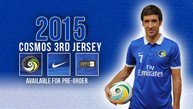 Terceira camisa do New York Cosmos 2015 Nike Raul