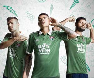 Terceira camisa verde do Fluminense 2015-2016 Adidas capa