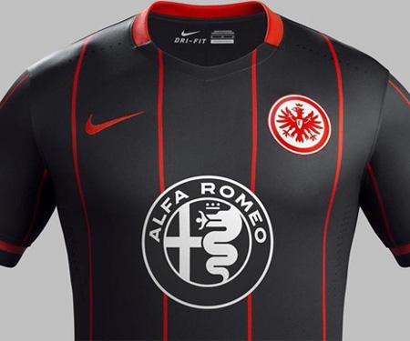 Camisas do Eintrach Frankfurt 2015-2016 Nike capa
