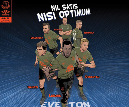 Camisas do Everton 2015-2016 Umbro Terceira capa
