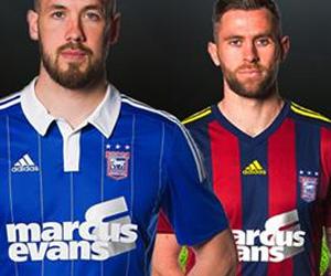 Camisas do Ipswich Town 2015-2016 Adidas