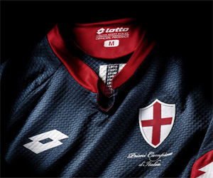Terceira camisa do Genoa 2015-2016 Scudetto1898 capa