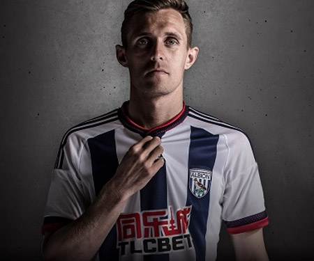 Camisas do West Bromwich Albion 2015-2016 Adidas Titular capa