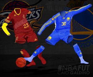 NBAFUT Camisas de futebol dos finalistas da NBA 2015 capa