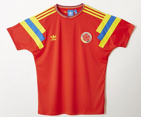 Camisa retrô da Colômbia Copa de 90 Adidas Originals capa