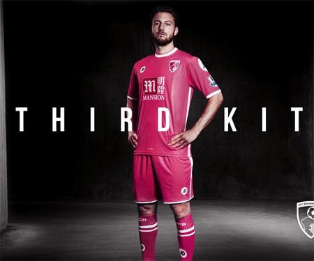 Camisas do Bournemouth 2015-2016 JD Sports Terceira capa
