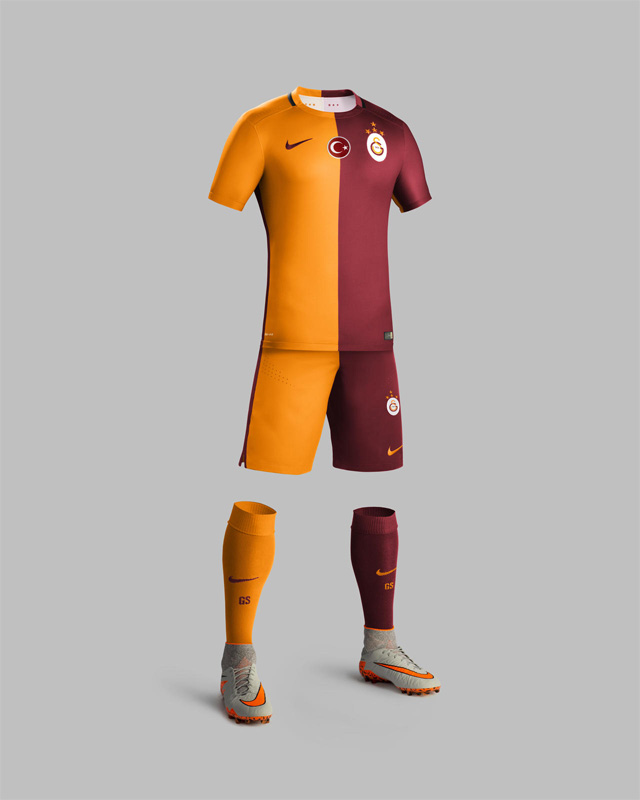 Camisas do Galatasaray 2015-2016 Nike kit
