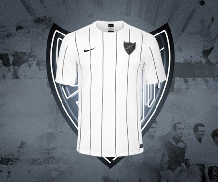 Camisas do Malaga 2016-2017 Nike Terceira capa