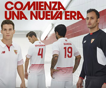 Camisas do Sevilla 2015-2016 New Balance capa