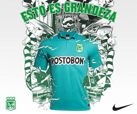 Terceira camisa do Atlético Nacional 2015-2016 Nike capa