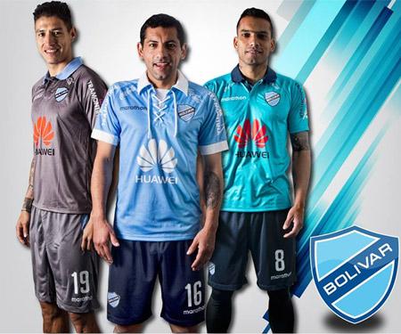 Camisas do Club Bolívar 2015-2016 Marathon capa