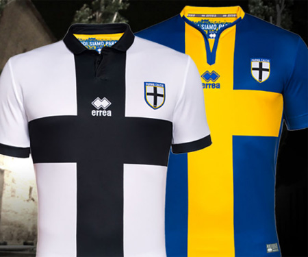 Camisas do Parma Calcio 1913 2015-2016 Erreà capa