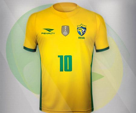 Camisas da Seleção Brasileira de Futsal 2015 Penalty