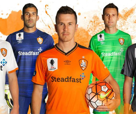 Camisas do Brisbane Roar 2015-2016 Umbro