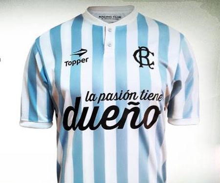 Espiritu Amateur: Camisa retrô do Racing Club 2015-2016 Topper