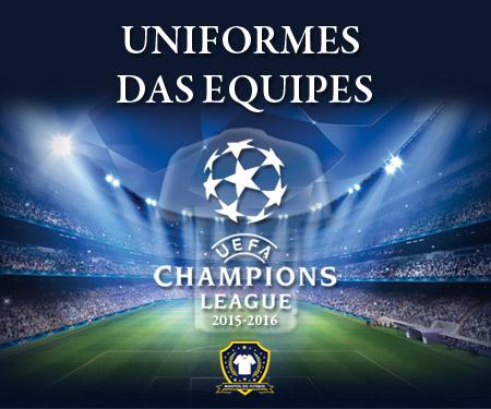 Uniformes das equipes da Champions League 2015-2016 capa