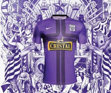 Camisa roxa do Alianza Lima 2015 Nike Senhor dos Milagres