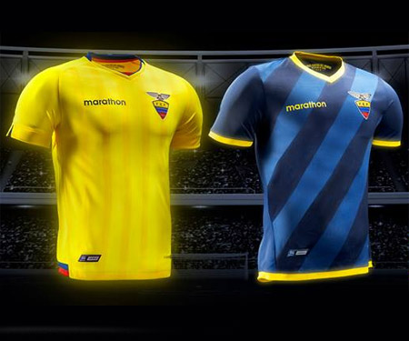 Camisas da Seleção do Equador 2015-2016 Marathon