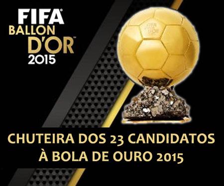 Chuteiras dos 23 indicados à Bola de Ouro FIFA 2015