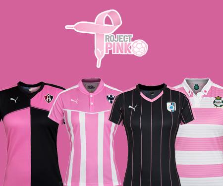 Project Pink 2015 Equipes Puma no México lançam camisas capa