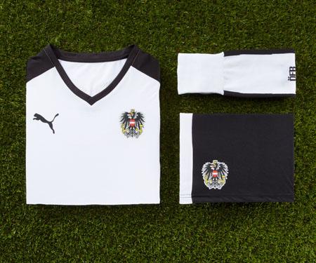 Camisas da Austria 2016 Puma Eurocopa