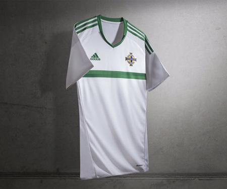 Camisas da Irlanda do Norte 2016 Eurocopa Adidas Reserva capa
