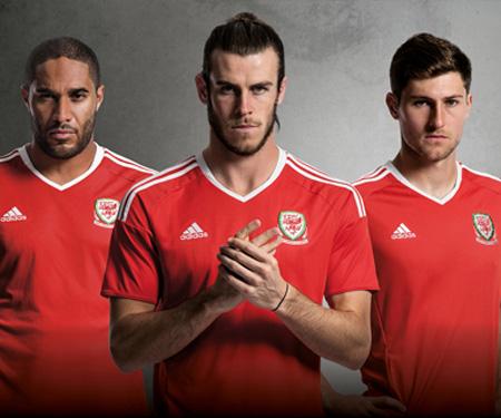 Camisas de País de Gales 2016 Eurocopa Adidas capa
