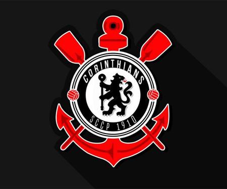 Escudos de times paulistas e ingleses Corinthians Chelsea