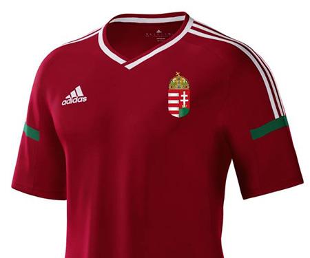 Camisas da Hungria 2016 Adidas Titular Votação capa